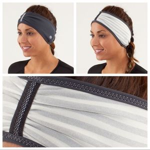 Lululemon grey brisk run headband